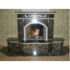 Fireplace Marble Dark Emperador