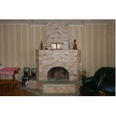 Fireplace of Bulgarian golden gneiss