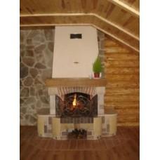 Fireplace of sandstone