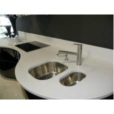 Gray granite countertop