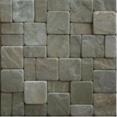 Tiles sawn-rounded (medieval city)